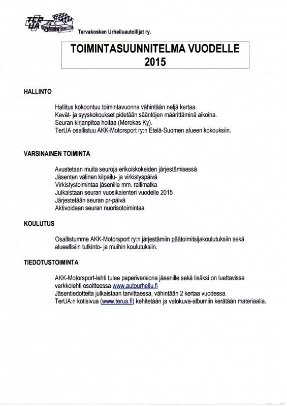 Toimintasuunnitelma 2015